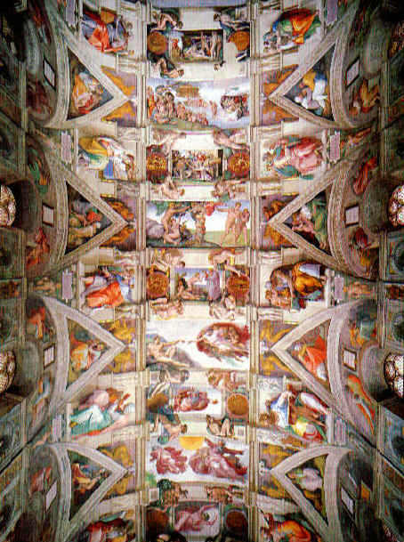michelangelo sistine chapel ceiling paintings and pictures